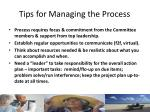 tips for managing the process