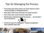 tips for managing the process1