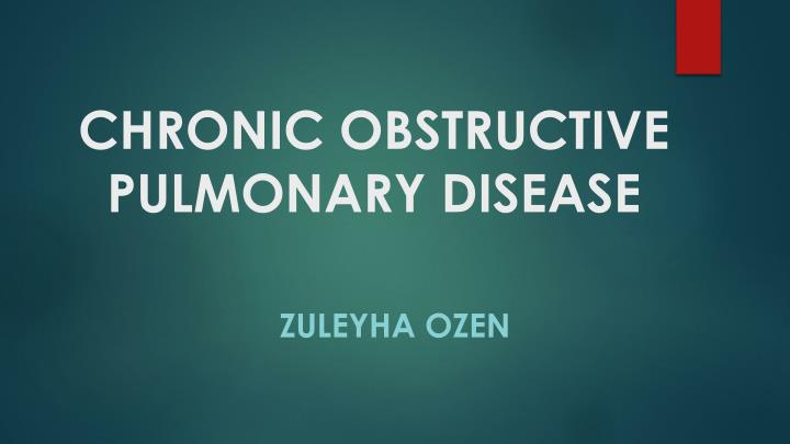 chronic obstructive pulmonary disease n.