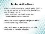 broker action items