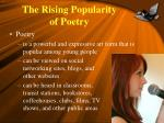 the rising popularity of poetry