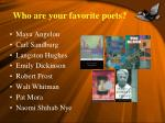 who are your favorite poets