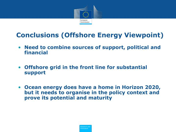 Conclusions (Offshore Energy Viewpoint)