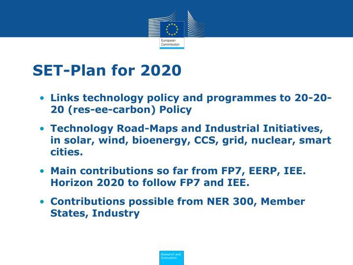 SET-Plan for 2020