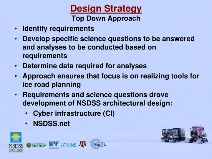 Design strategy top down approach