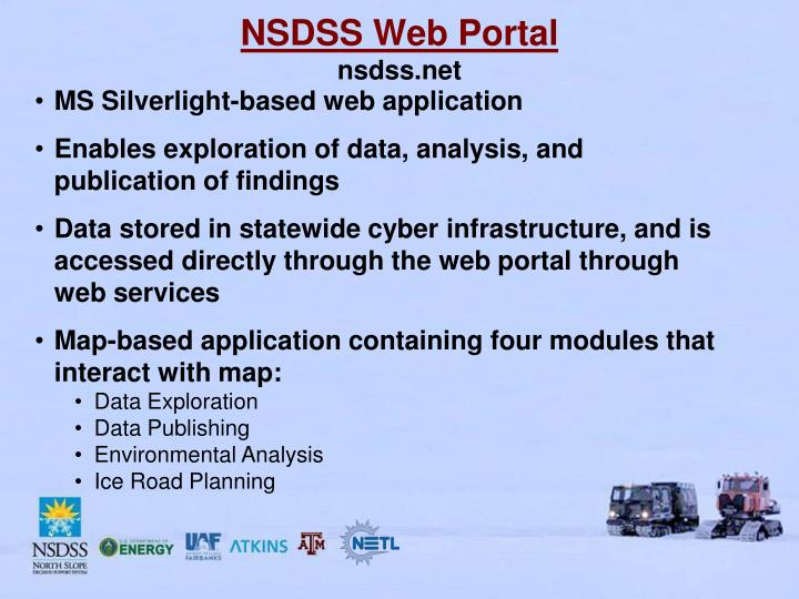 NSDSS Web Portal