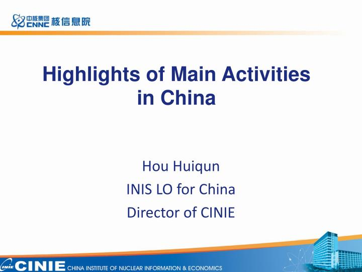 highlights of main activities in china n.