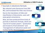 utilization of inis products2