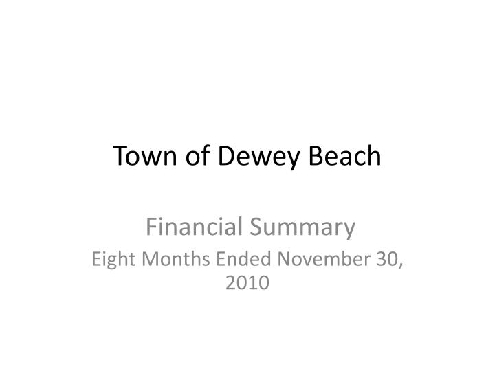 town of dewey beach n.