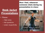 book jacket presentations