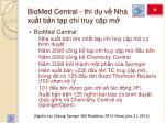 biomed central th d v nh xu t b n t p ch truy c p m