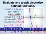 evaluate and graph piecewise defined functions1