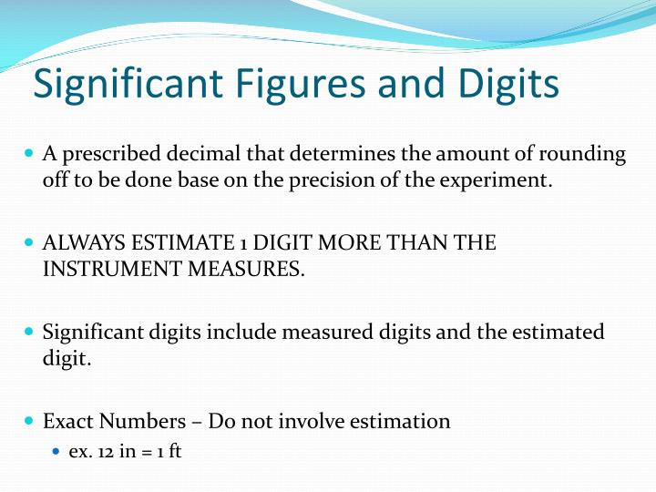 Significant Figures and Digits