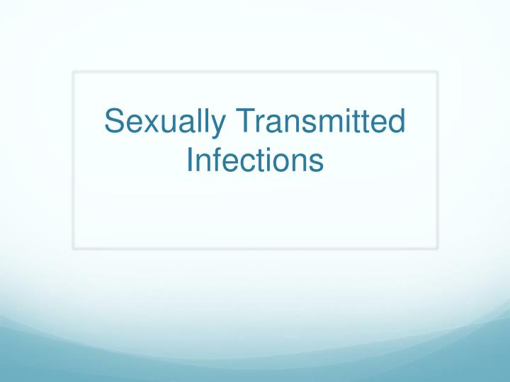 sexually transmitted infections n.