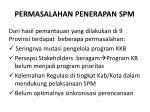 permasalahan penerapan spm