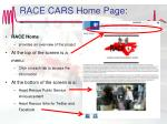 race cars home page