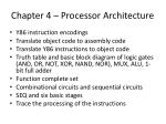 chapter 4 processor architecture