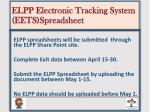 elpp electronic tracking system eets spreadsheet2