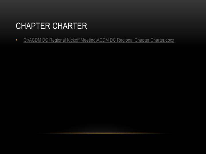 Chapter Charter