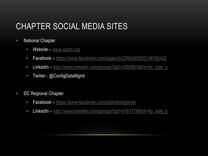 Chapter Social media Sites