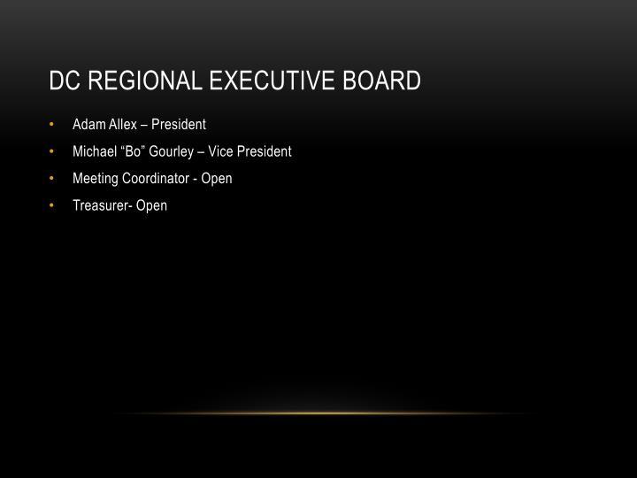 DC Regional Executive Board