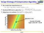 design strategy of compensation algorithm