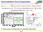 intermodulation term compensation