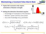 maintaining a constant false alarm rate