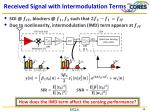 received signal with intermodulation terms