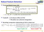 robust feature detection