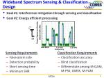 wideband spectrum sensing classification design