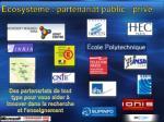 ecosyst me partenariat public priv