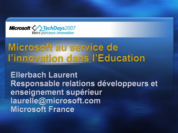 microsoft au service de l innovation dans l education n.
