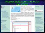 p gina de elluminate plan del cvsp