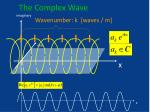 the complex wave