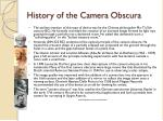 history of the camera obscura