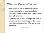 what is a camera obscura