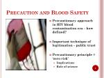 precaution and blood safety