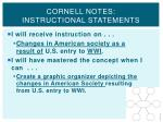 cornell notes instructional statements