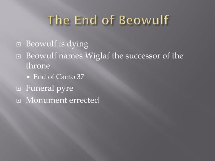 The End of Beowulf