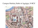 campus martius baths of agrippa 19 bce