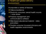 e healthcare global delivery environment