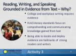 reading writing and speaking grounded in evidence from text why