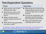 text dependent questions1