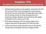 kebijakan ppia se menteri kesehatan no gk menkes 001 i 2013