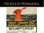 the role of propaganda