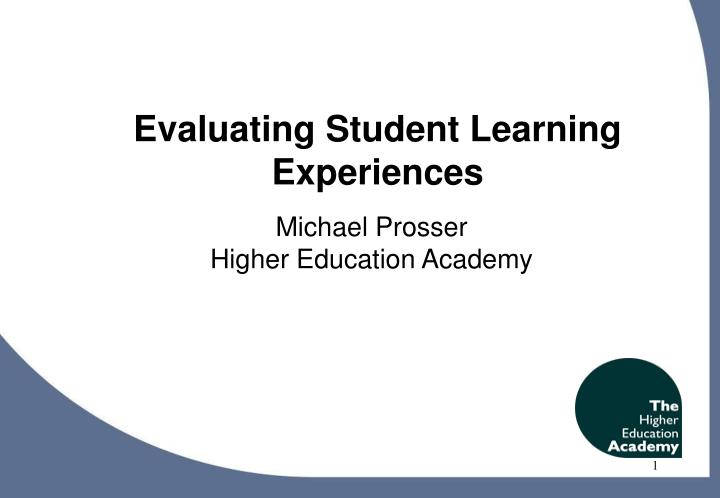 higher education and experiential learning Experiential learning in higher education: linking classroom and community eric digest this digest was created by eric, the educational resources.