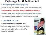 espionage act sedition act