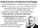 herbert hoover and wartime food supply