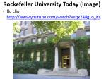 rockefeller university today image